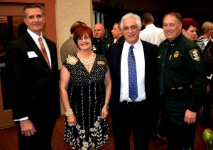 First Step Board Chair Peter Abbott, along with Board member Lynne Ross, President/CEO David Beesley and Sheriff Tom Knight.