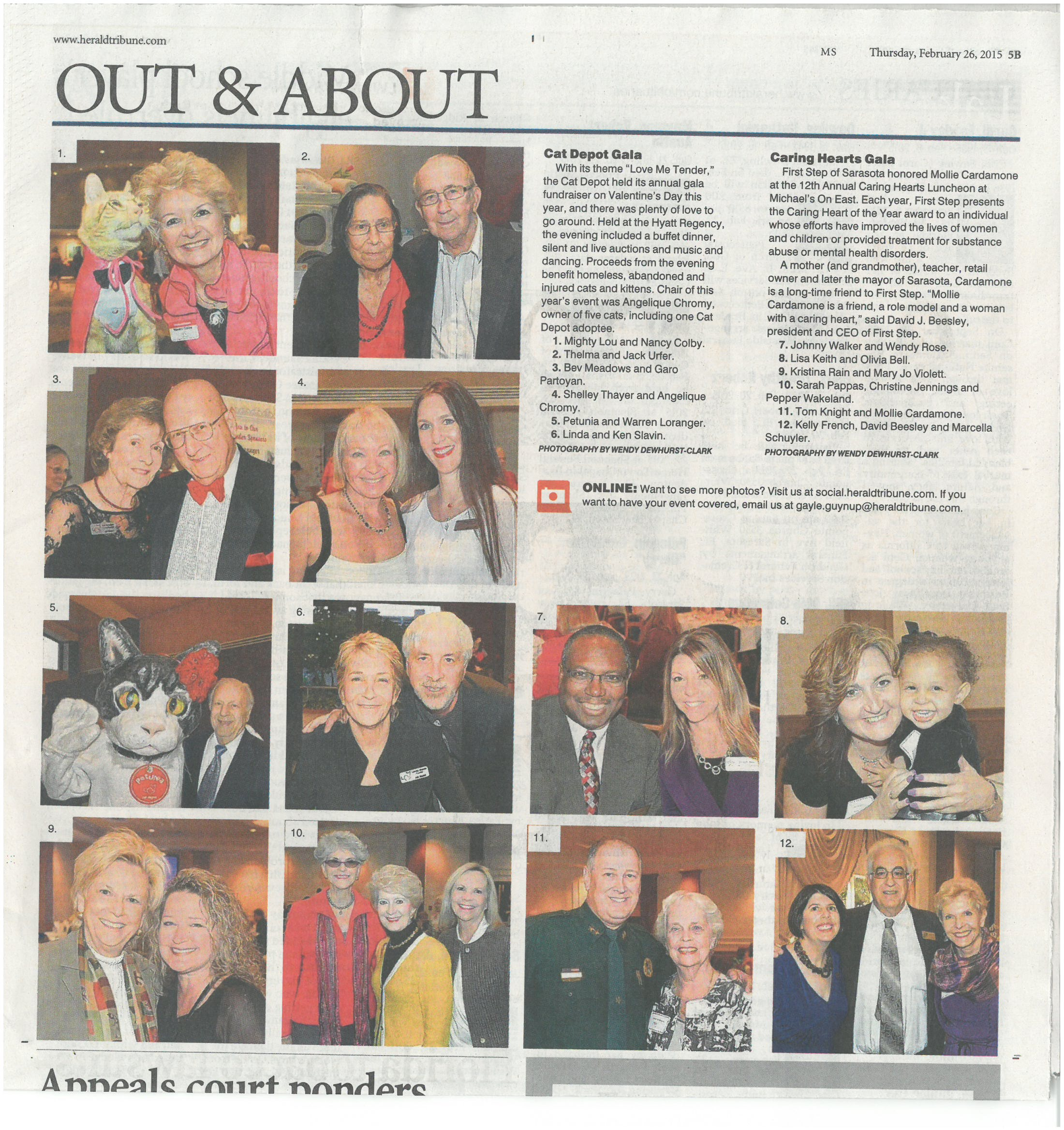 Caring Hearts coverage from the Sarasota Herald Tribune, February 26, 2015